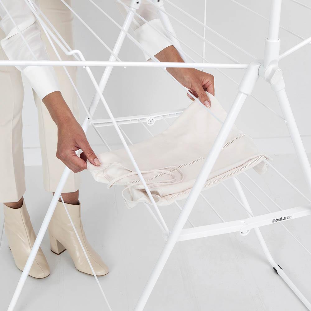 Сушилник за дрехи Brabantia Hangon, 25m, допълнителен прът, Fresh White(16)