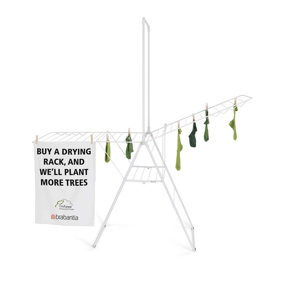 Сушилник за дрехи Brabantia Hangon, 25m, допълнителен прът, Fresh White(19)