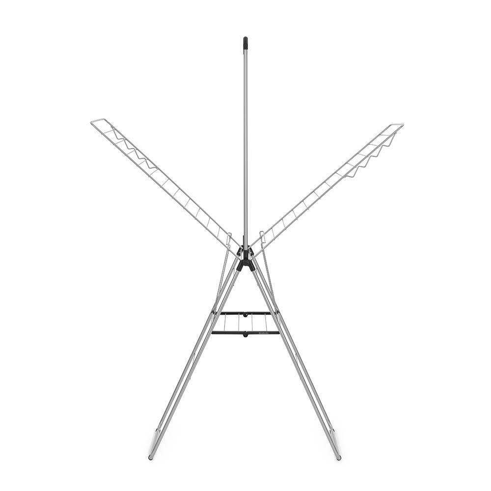 Сушилник за дрехи Brabantia Hangon, 25m, допълнителен прът, Metallic Grey
