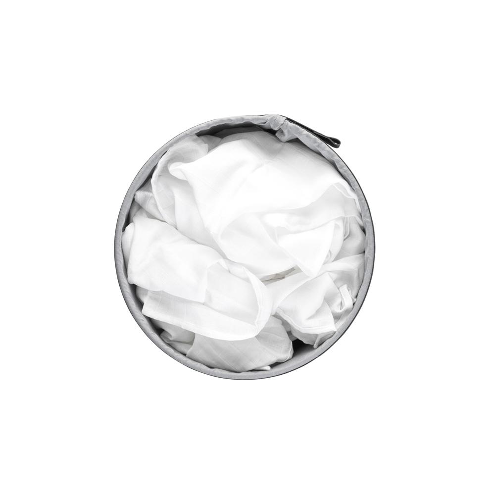 Кош за пране Brabantia 35L, White, пластмасов капак(6)
