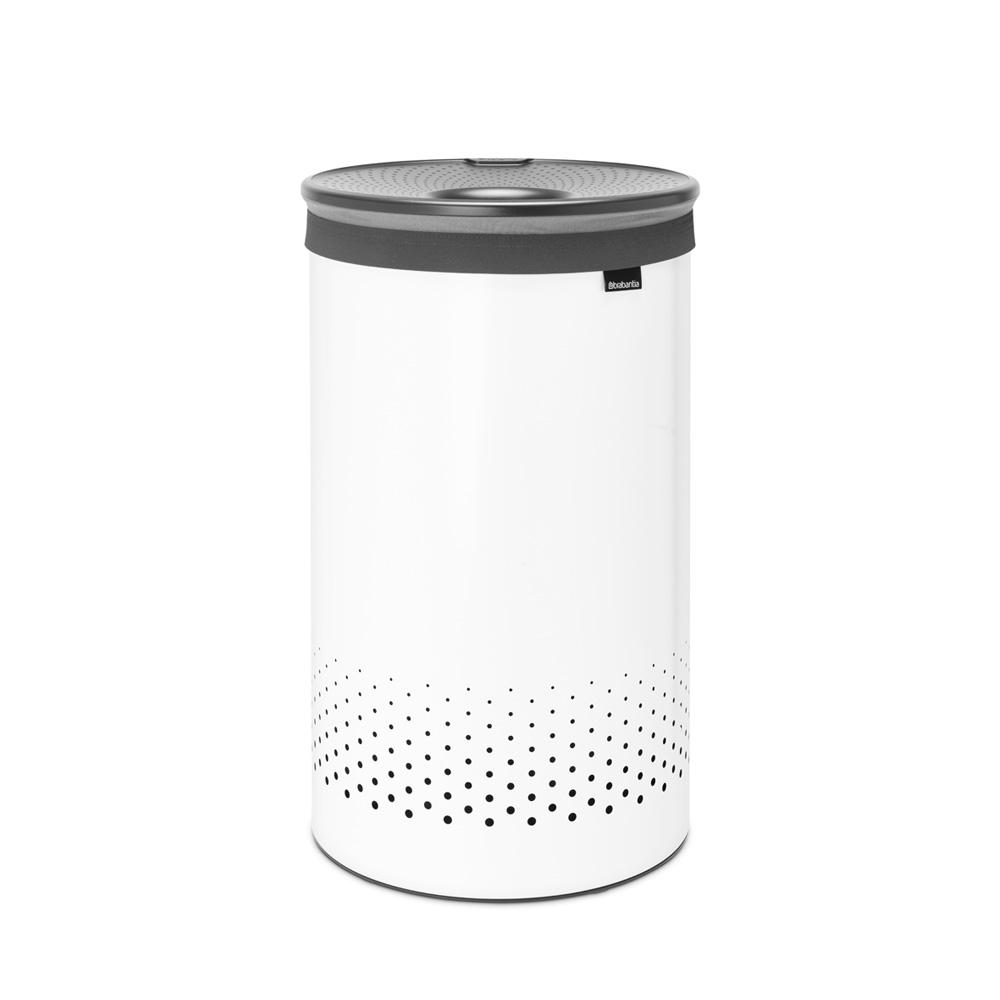 Кош за пране Brabantia 60L, White, пластмасов капак