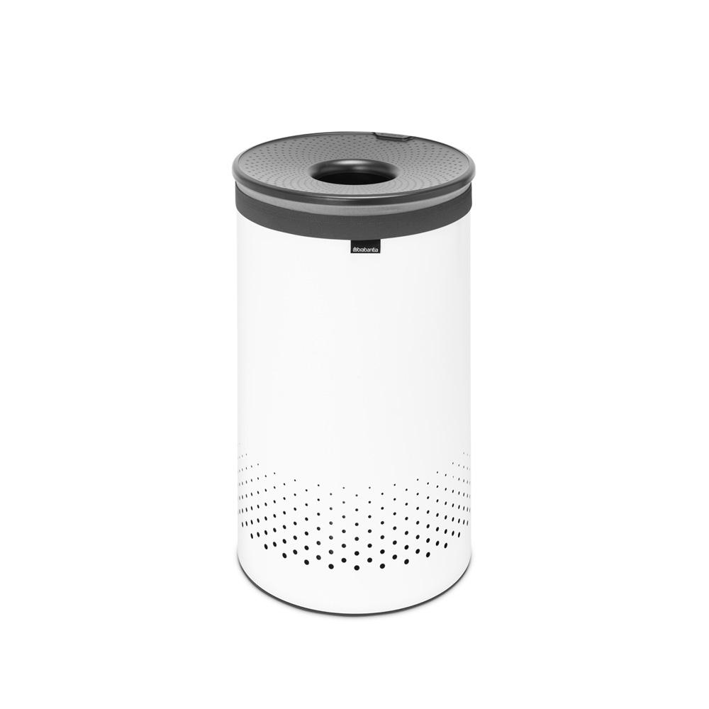 Кош за пране Brabantia 60L, White, пластмасов капак(1)
