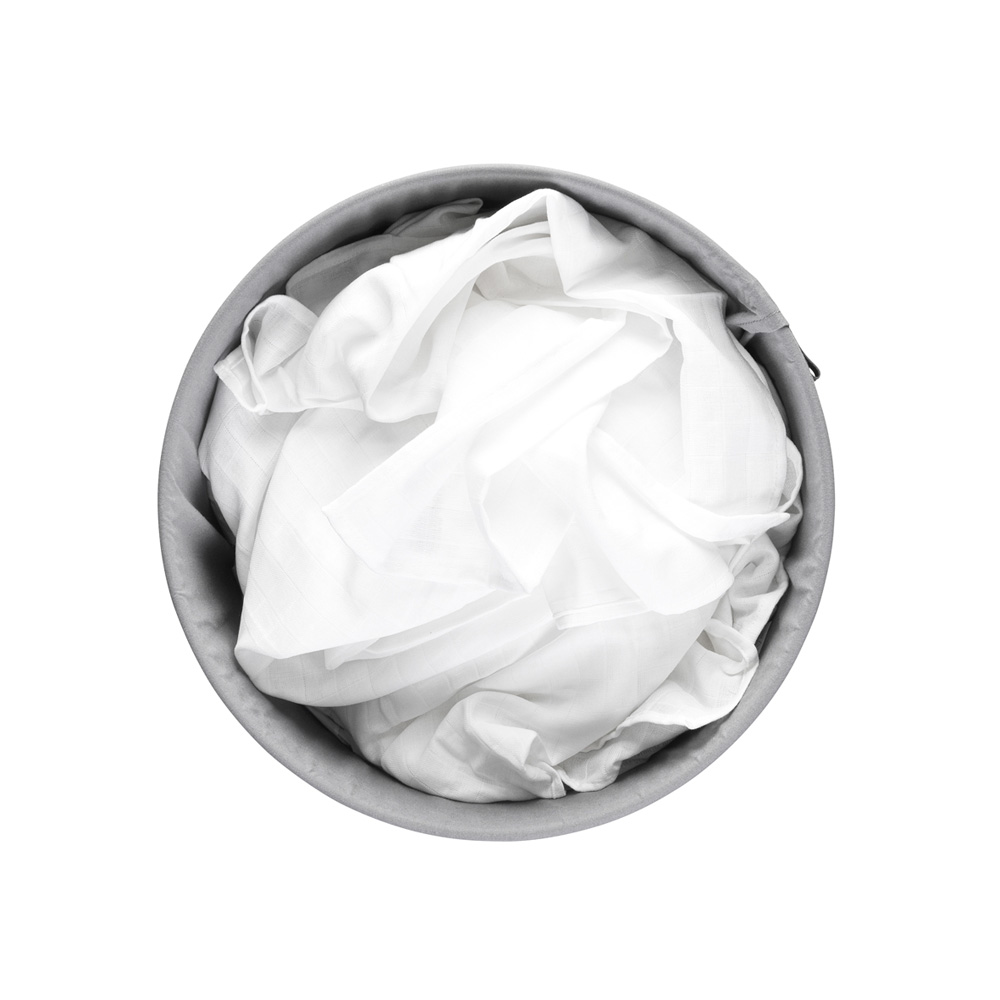 Кош за пране Brabantia 60L, White, пластмасов капак(6)
