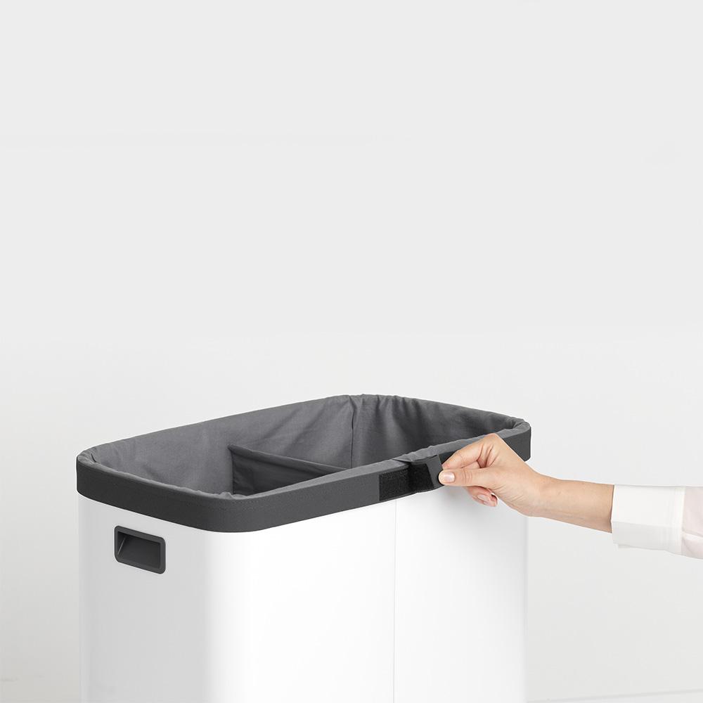 Торба за пране Brabantia за кош за пране Brabantia Bo, 2x45L, Grey(3)