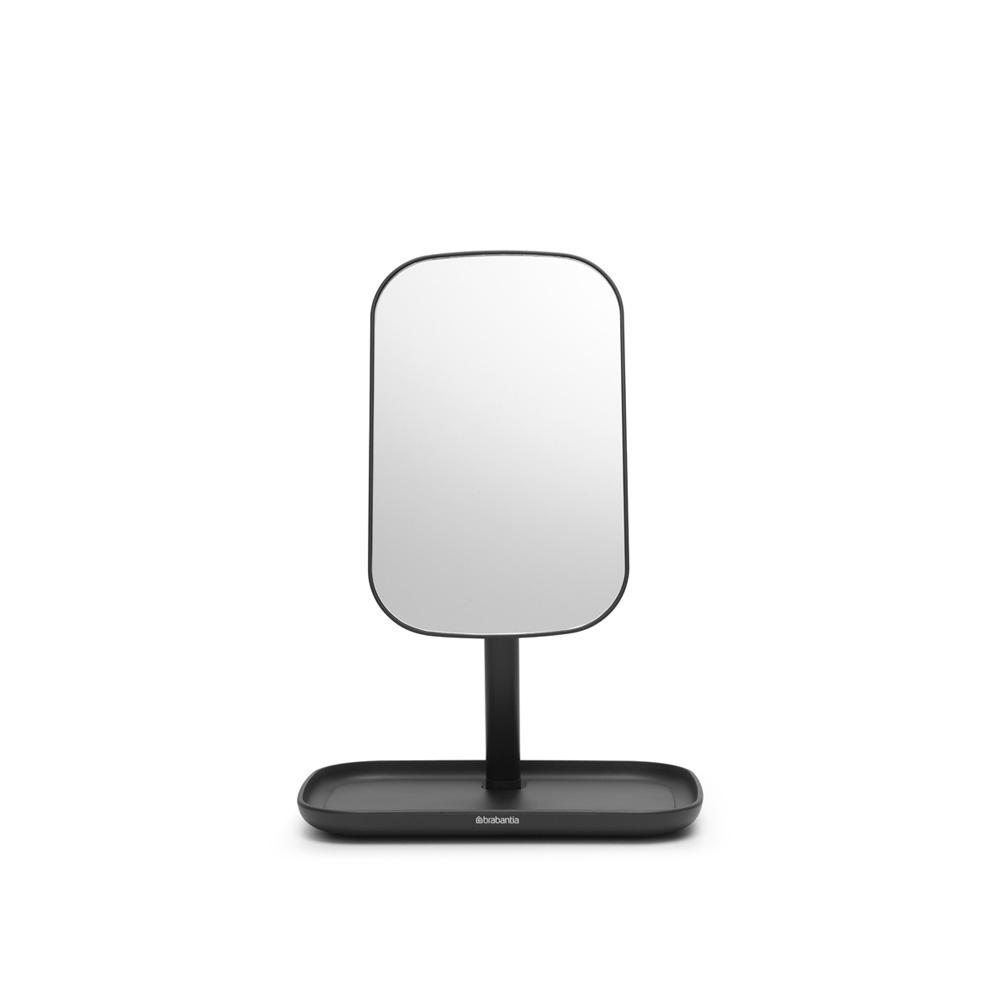 Огледало с поставка за принадлежности Brabantia, Dark Grey