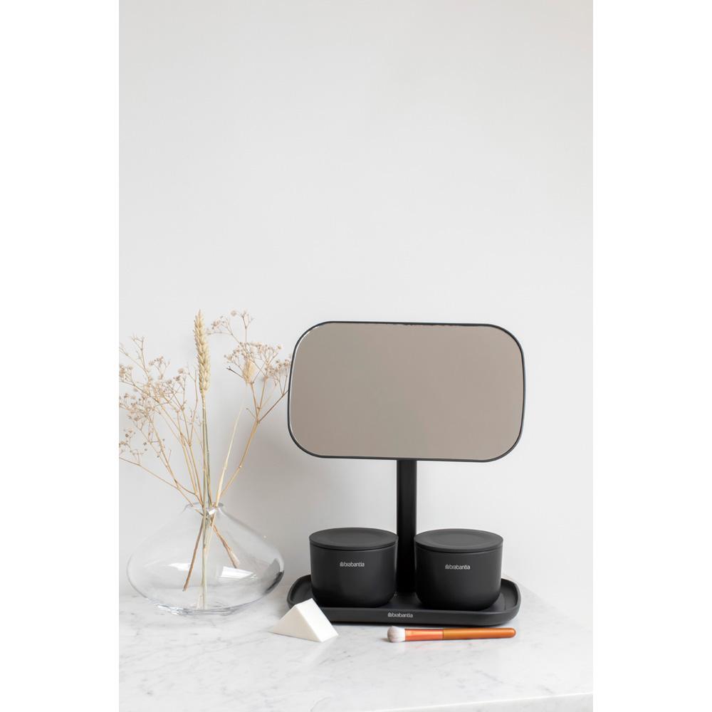 Огледало с поставка за принадлежности Brabantia, Dark Grey(11)