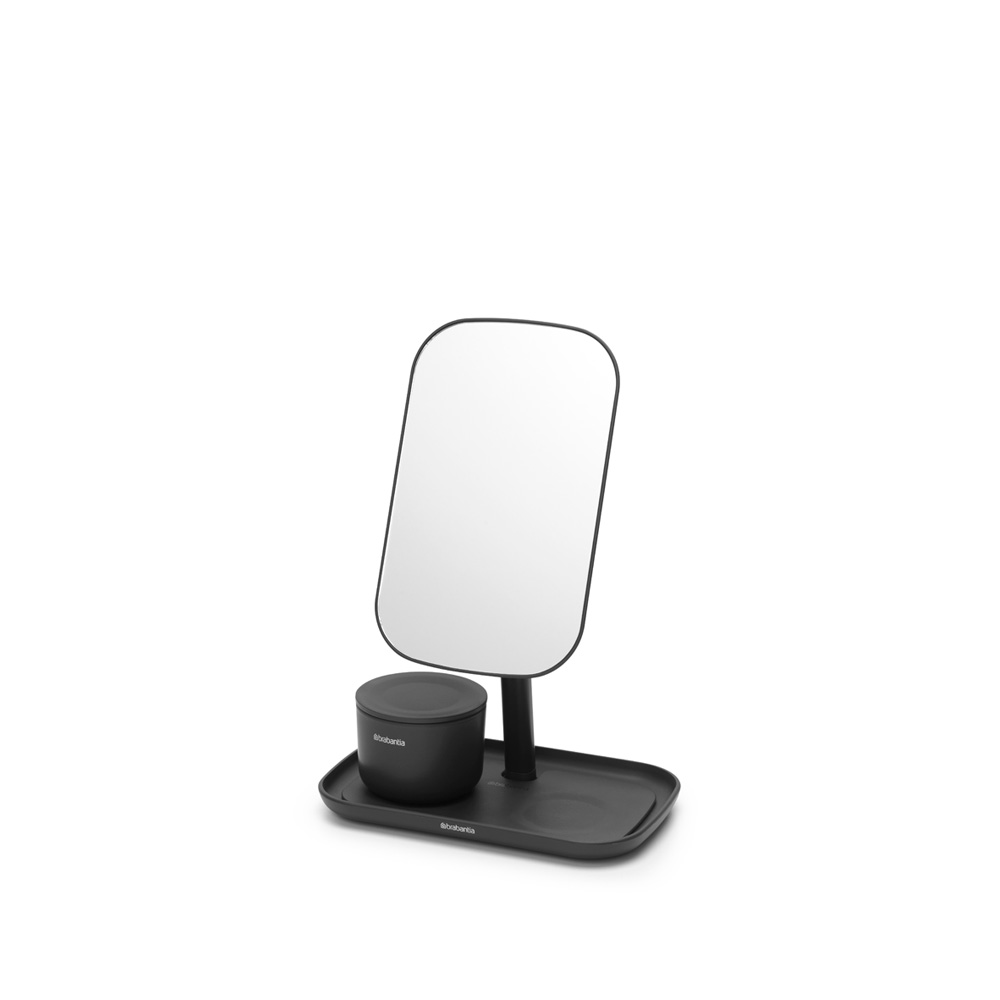 Огледало с поставка за принадлежности Brabantia, Dark Grey(2)