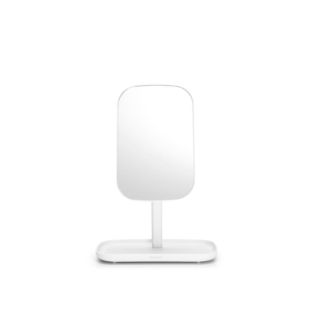 Огледало с поставка за принадлежности Brabantia, White