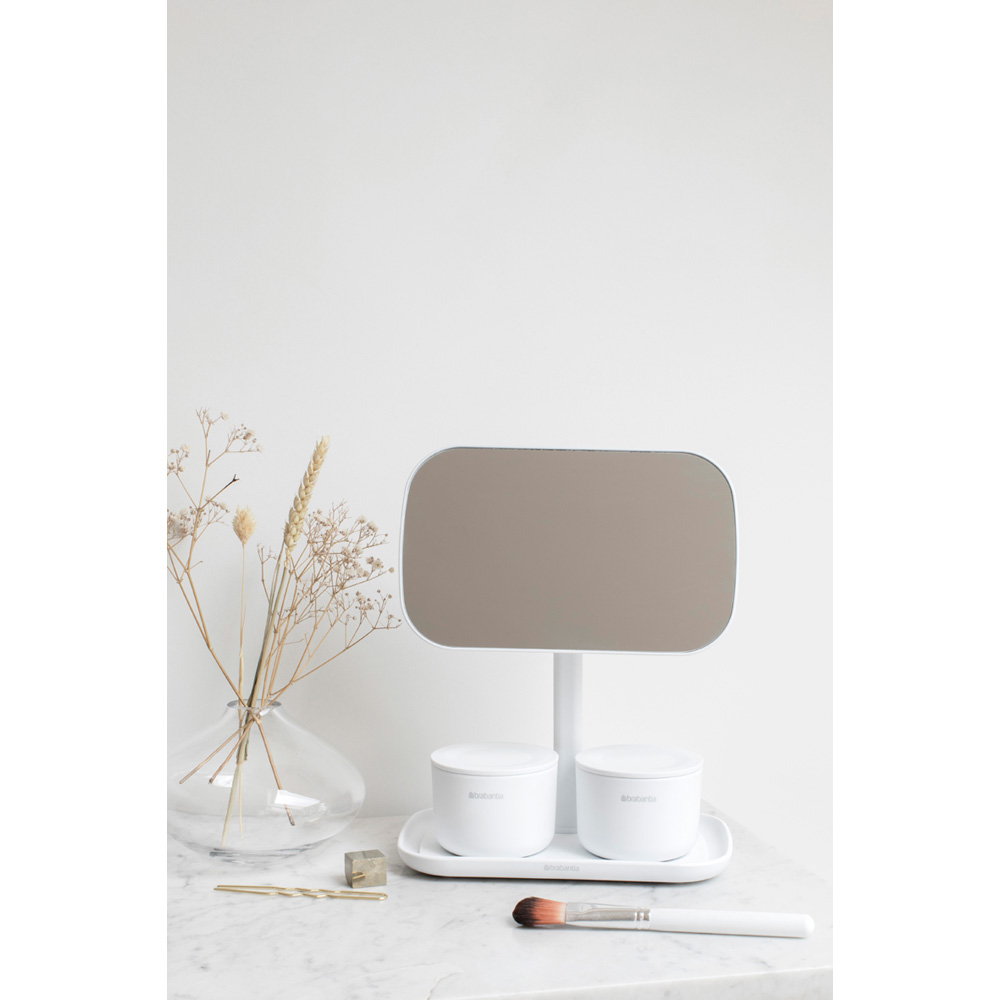 Огледало с поставка за принадлежности Brabantia, White(11)