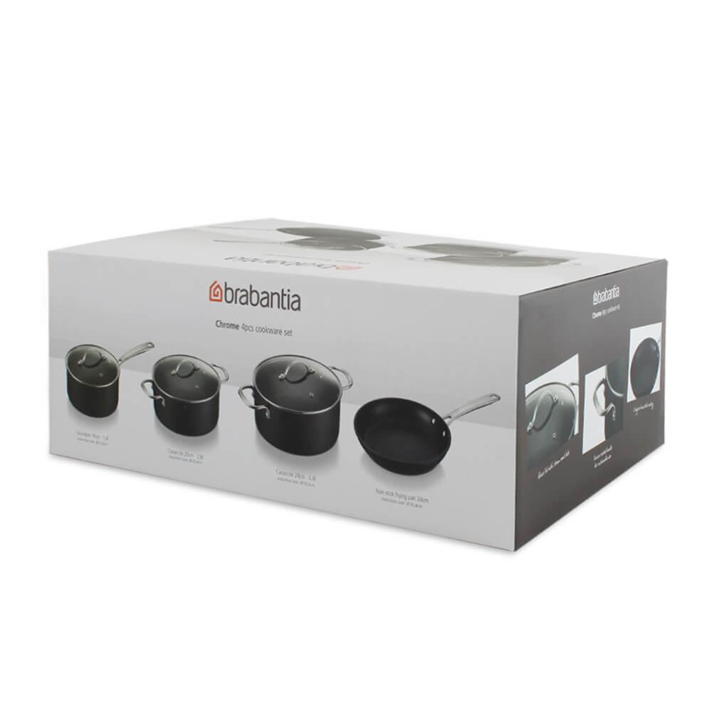 Комплект съдове за готвене Brabantia Chrome(9)