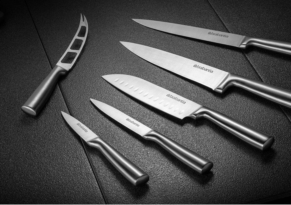 Комплект от 6 ножа Brabantia Blade и акациева стойка(2)
