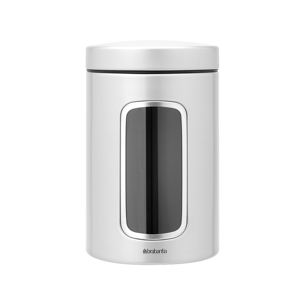 Буркан Brabantia Window 1.4L, Metallic Grey
