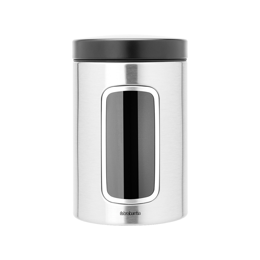 Буркан Brabantia Window 1.4L, Matt Steel Fingerprint Proof