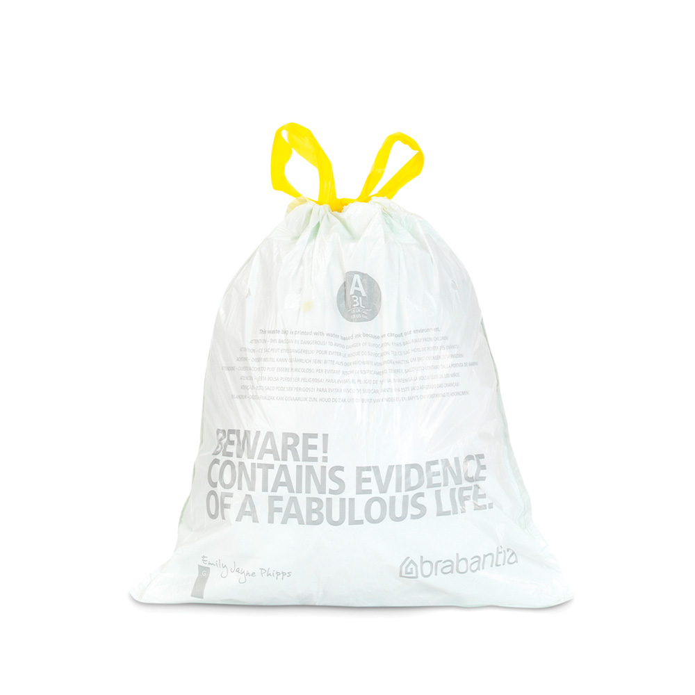 Торба за кош Brabantia размер A, 3L, 20 броя, бели(2)