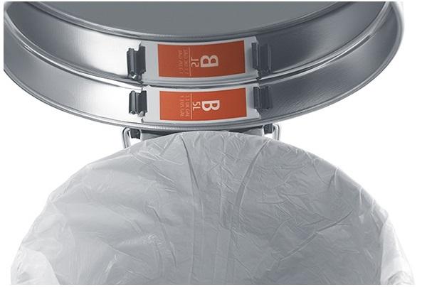 Торба за кош Brabantia размер B, 5L, 20 броя, бели(4)