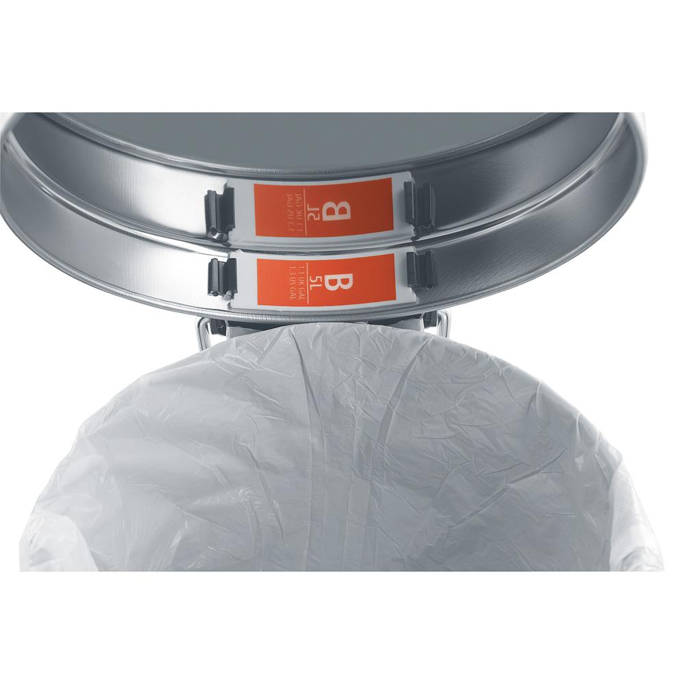Торба за кош Brabantia размер B, 5L, 60 броя, бели(2)