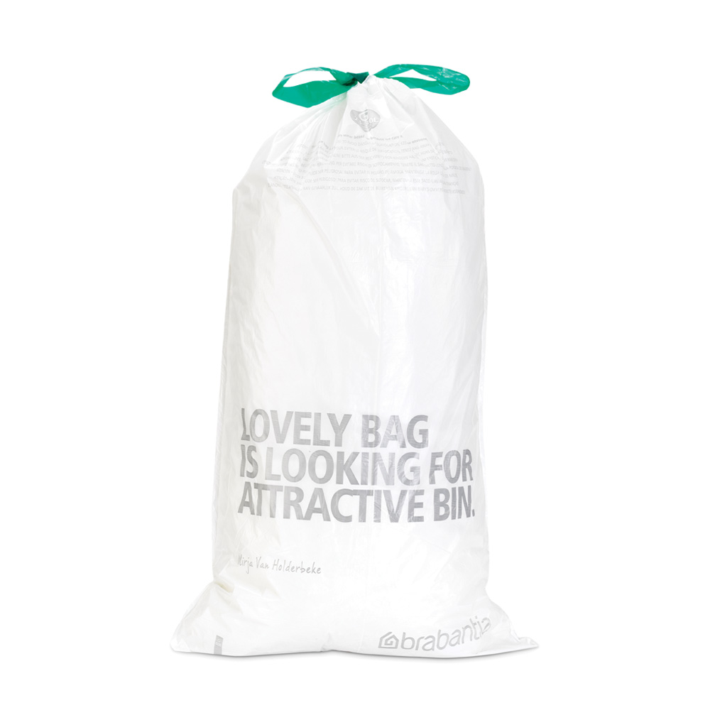 Торба за кош Brabantia размер G, 23-30L, 40 броя, бели(1)