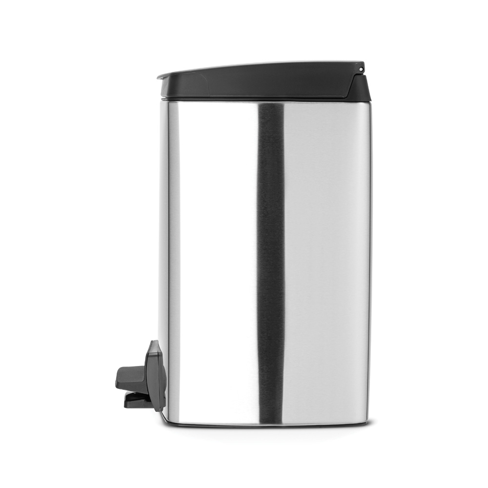 Кош за смет с педал Brabantia Silent 10L, Matt Steel Fingerprint Proof(1)