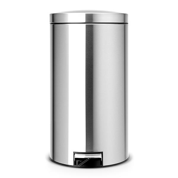 Кош за смет с педал Brabantia Silent 45L, Matt Steel Fingerprint Proof