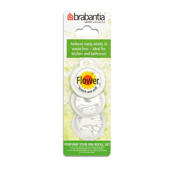 Ароматизатор за кош за смет Brabantia - държач и 3 капсули,  Flower