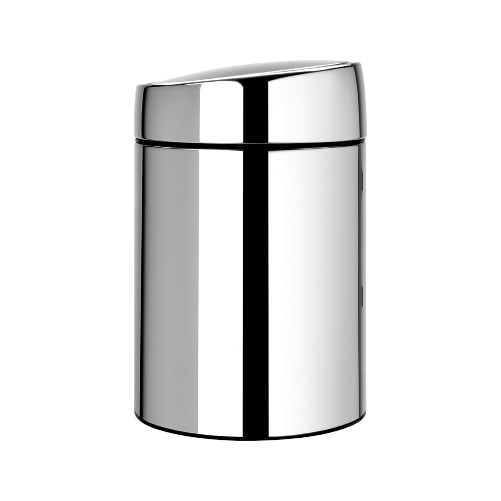 Кош за смет Brabantia Slide 5L, Brilliant Steel, метална кофа(1)