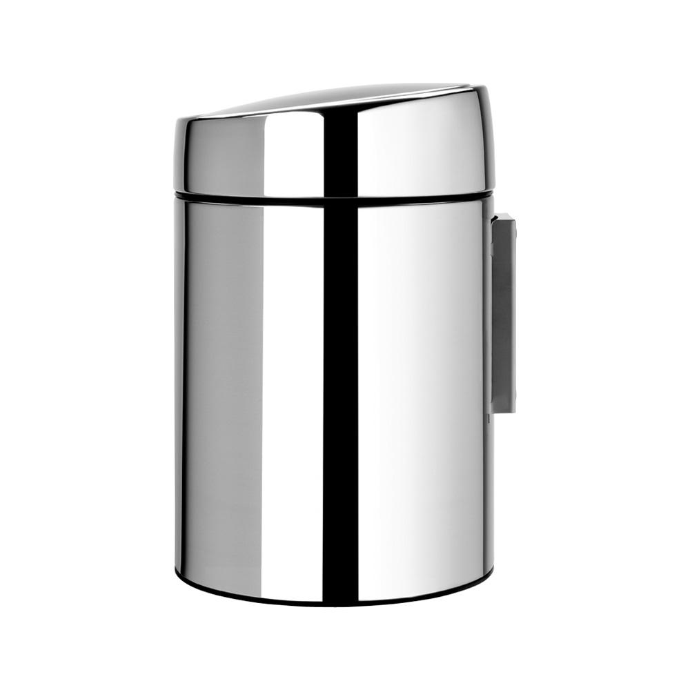 Кош за смет Brabantia Slide 5L, Brilliant Steel, метална кофа(2)
