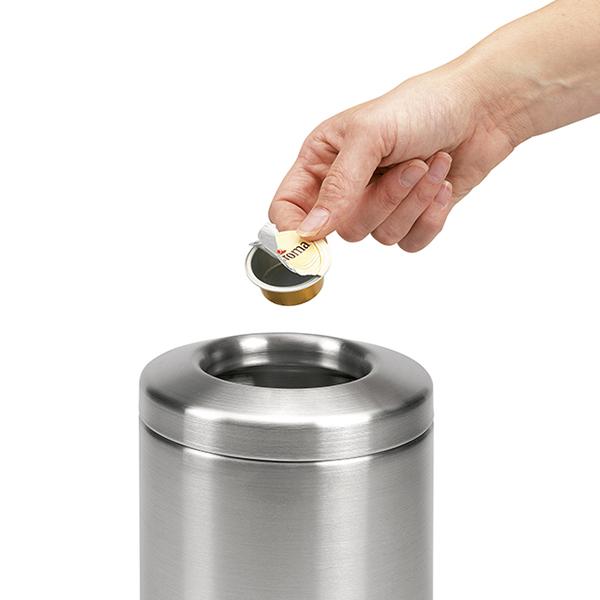 Кош за смет за маса Brabantia 2.3L, Matt Steel, метален капак(1)