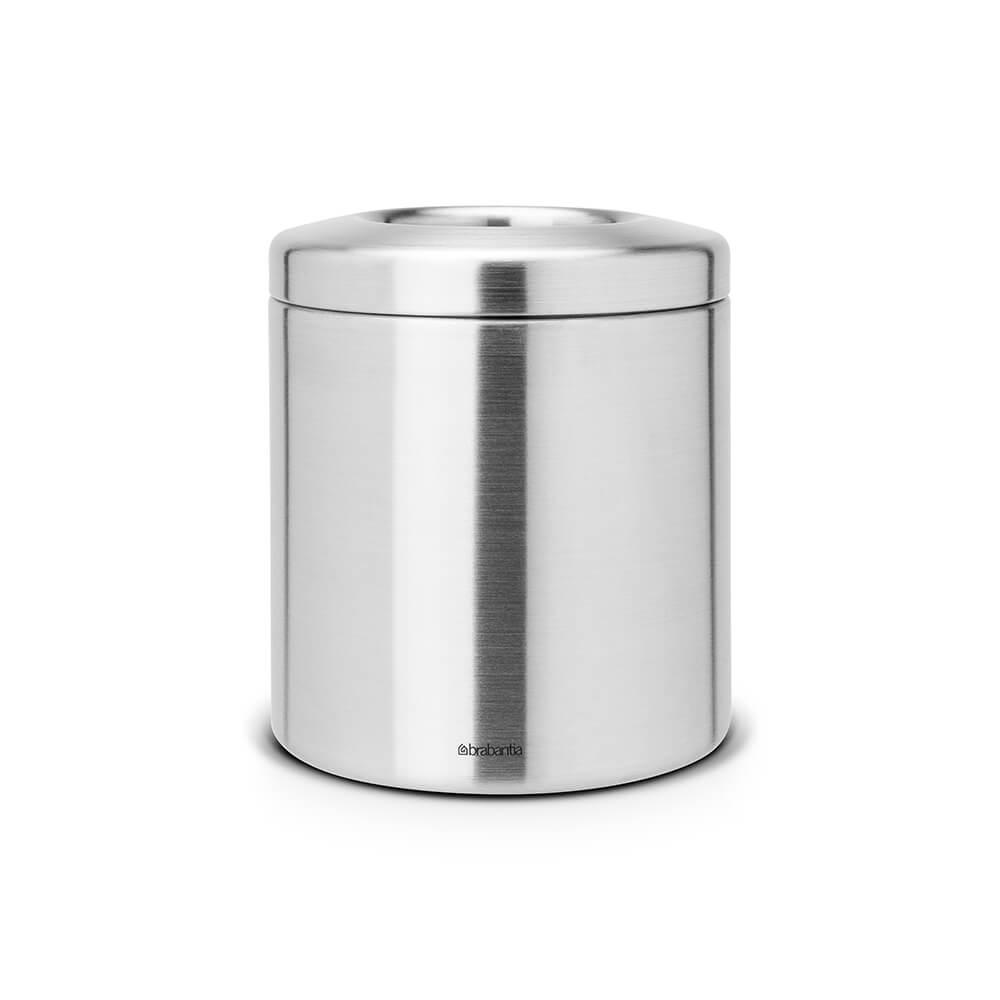 Кош за смет за маса Brabantia 2.3L, Matt Steel, метален капак