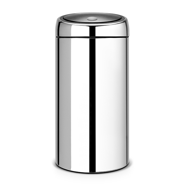 Кош за смет Brabantia Touch Bin 2x20L, Brilliant Steel