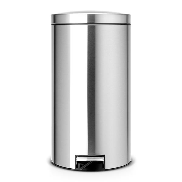 Кош за смет с педал Brabantia Silent Twin 2x20L, Matt Steel Fingerprint Proof