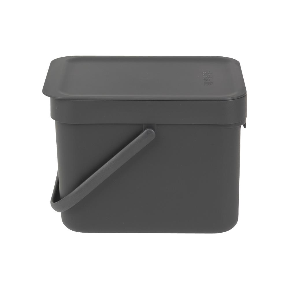 Кош за смет за разделно събиране Brabantia Sort&Go 6L, Dark Grey(1)