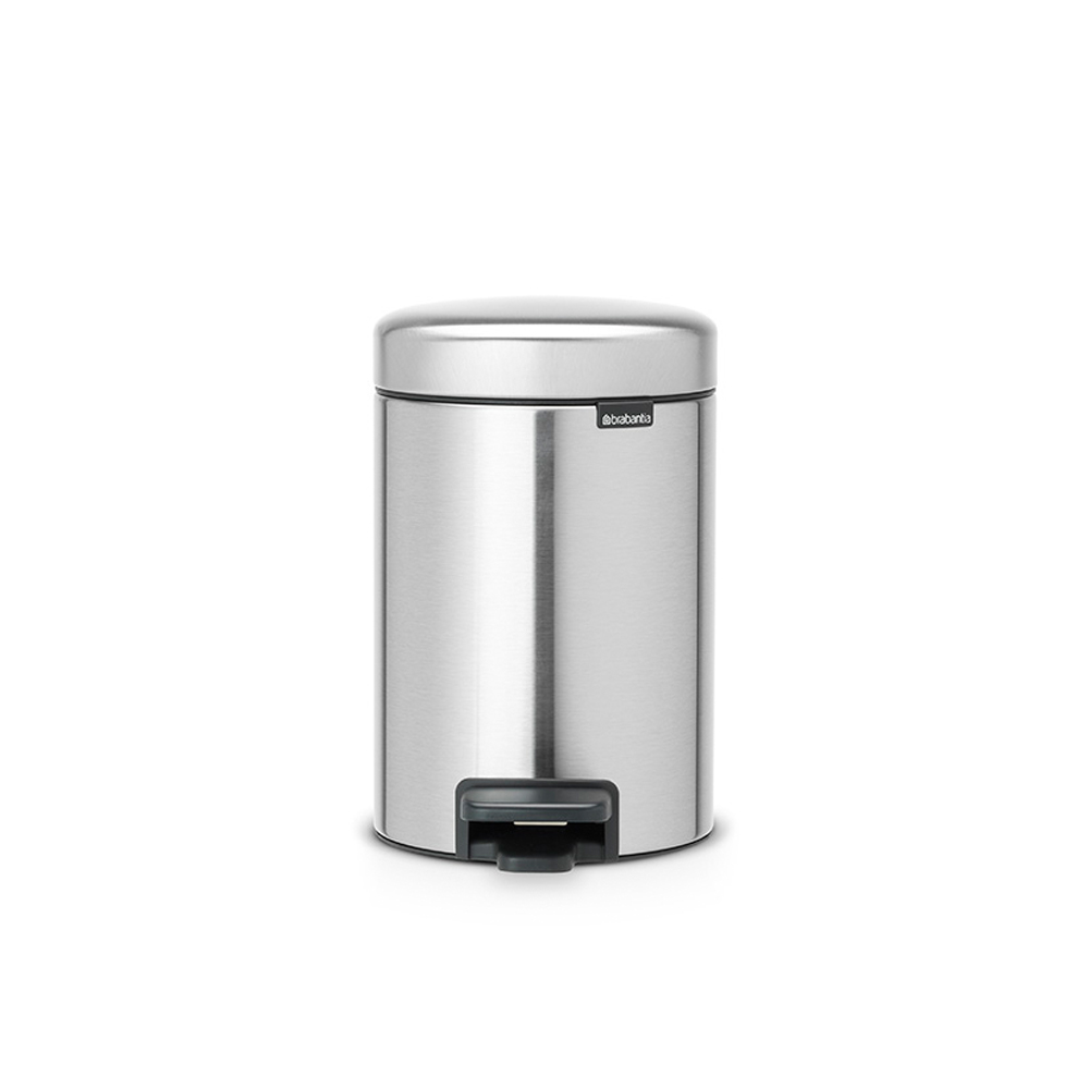 Кош за смет с педал Brabantia NewIcon 3L, Matt Steel Fingerprint Proof