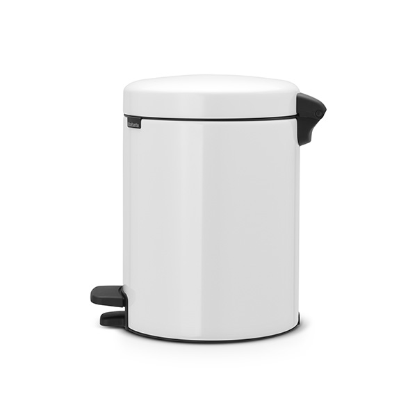 Кош за смет с педал Brabantia NewIcon 5L, White, метална кофа(1)