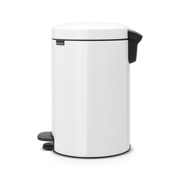 Кош за смет с педал Brabantia NewIcon 12L, White, метална кофа(1)