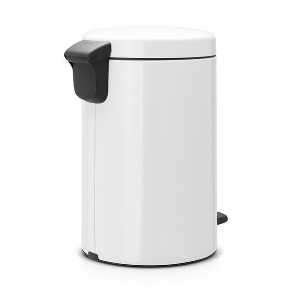 Кош за смет с педал Brabantia NewIcon 12L, White, метална кофа(2)