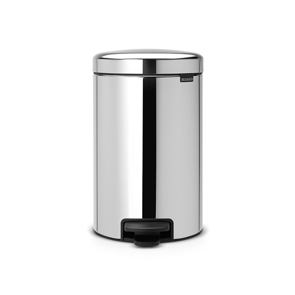 Кош за смет с педал Brabantia NewIcon 12L, Brilliant Steel, метална кофа
