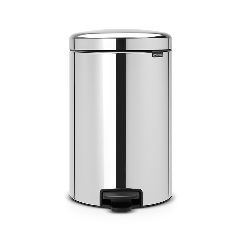 Кош за смет с педал Brabantia NewIcon 20L, Brilliant Steel, метална кофа
