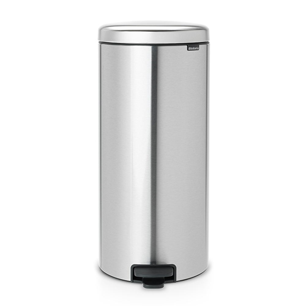 Кош за смет с педал Brabantia NewIcon 30L, Matt Steel Fingerprint Proof