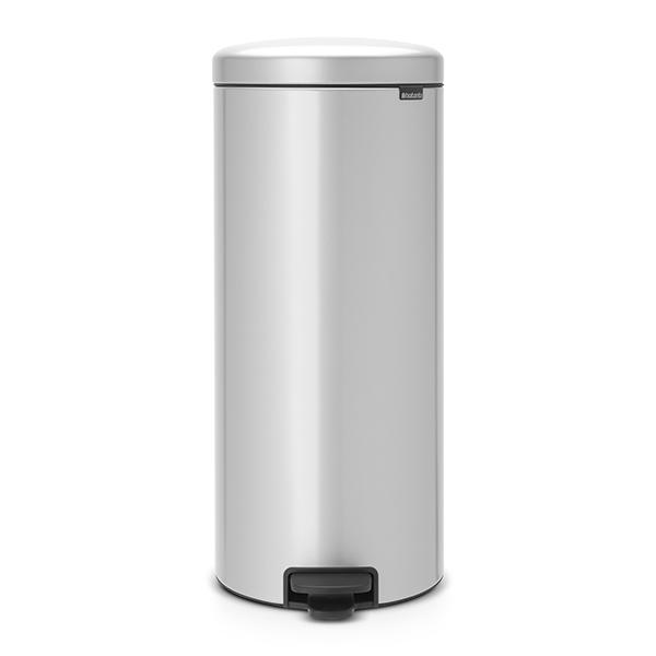 Кош за смет с педал Brabantia NewIcon 30L, Metallic Grey, метална кофа