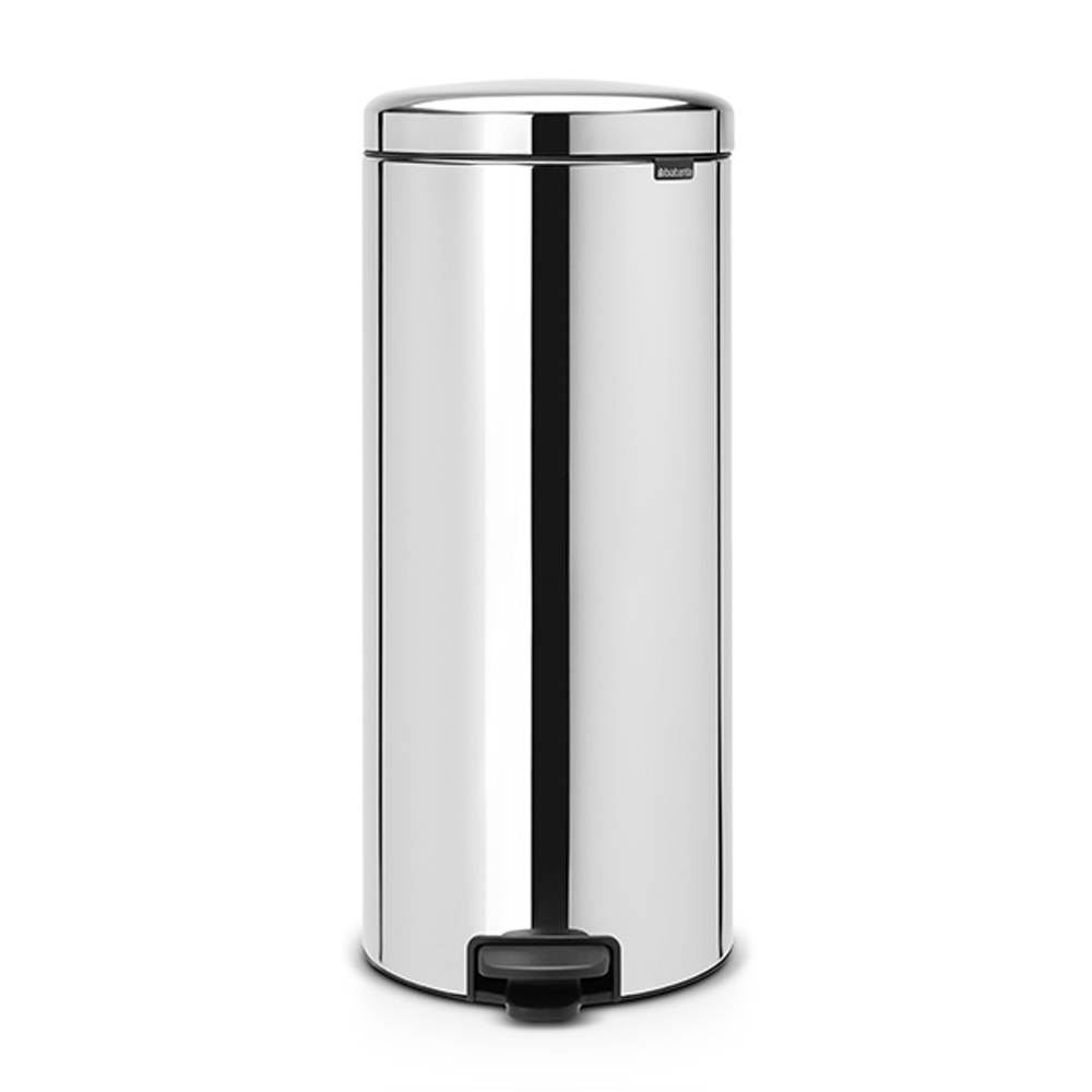 Кош за смет с педал Brabantia NewIcon 30L, Brilliant Steel, метална кофа