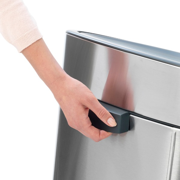 Кош за смет Brabantia Touch Bin New Recycle 23+10L, Matt Steel(4)