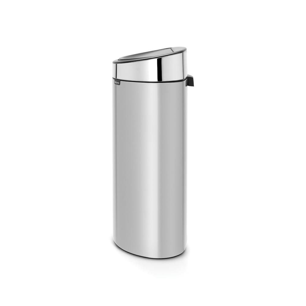 Кош за смет Brabantia Touch Bin New 40L, Metallic Grey, капак металик(1)
