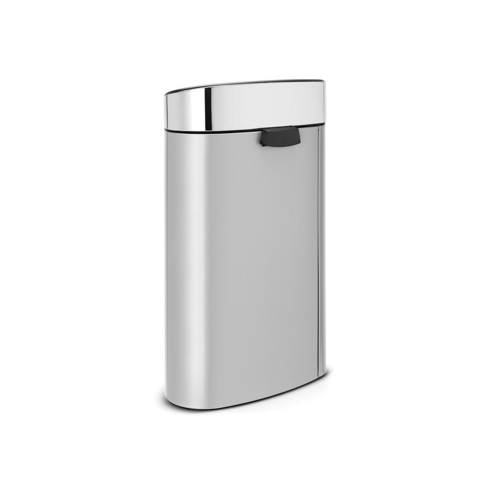 Кош за смет Brabantia Touch Bin New 40L, Metallic Grey, капак металик(2)