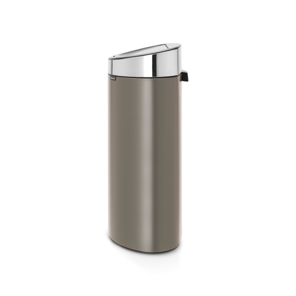 Кош за смет Brabantia Touch Bin New 40L, Platinum, капак металик(1)