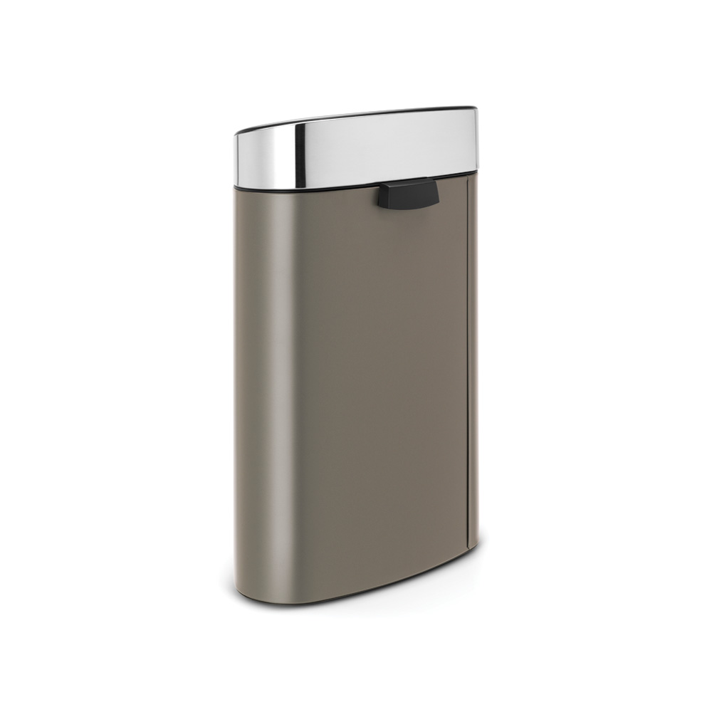 Кош за смет Brabantia Touch Bin New 40L, Platinum, капак металик(2)