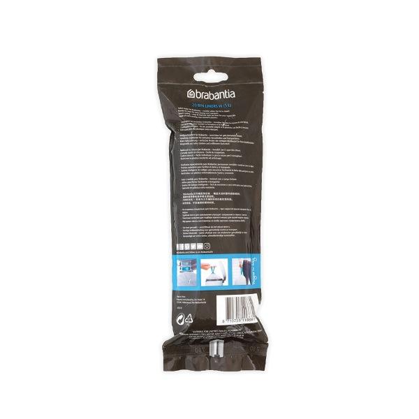 Торба за кош Brabantia размер W (NewIcon), 5L, 20 броя, бели(1)
