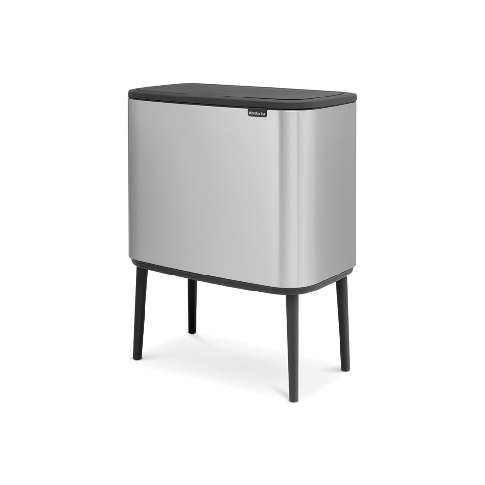 Кош за смет Brabantia Bo Touch 3x11L, Matt Steel Fingerprint Proof(1)