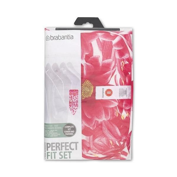 Калъф за маса за гладене Brabantia B 124x38cm, 4+4mm, Pink Santini(1)