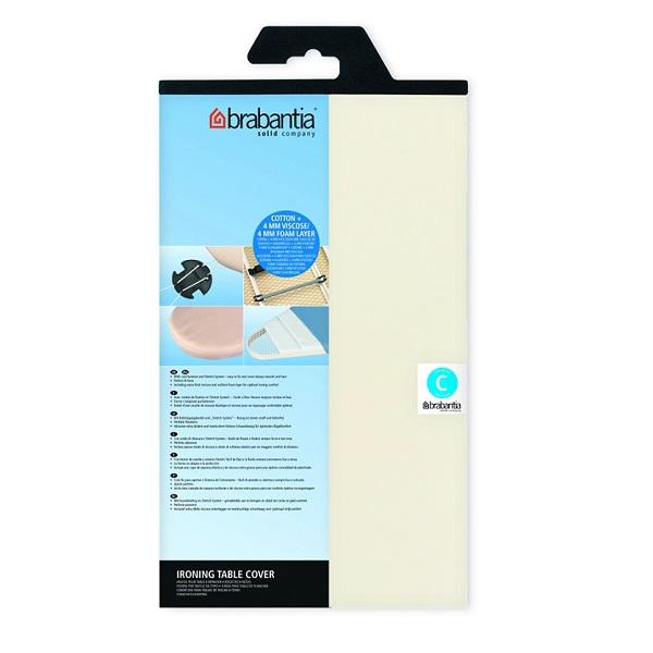 Калъф за маса за гладене Brabantia C 124x45cm, 4+4mm, Ecru(1)