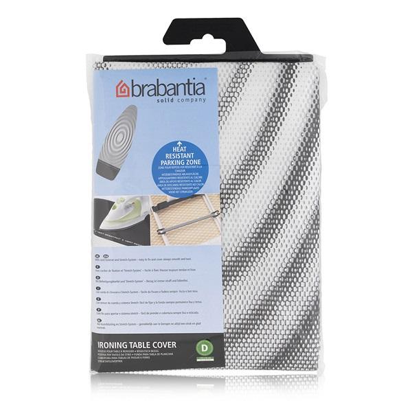 Калъф за маса за гладене Brabantia D 135x45cm, 2mm, Titan Oval, топлоустойчива зона за ютия(1)
